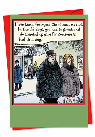 Humorous Christmas Card From NobleWorksInc.com - Movies
