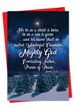 Beautiful Merry Christmas Card From NobleWorksInc.com - Christmas Quotes Isa 9:6