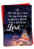 Beautiful Merry Christmas Card From NobleWorksInc.com - Christmas Quotes Luke 2:11