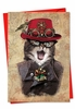 Artful Christmas Card From NobleWorksInc.com - Steampunk Cats