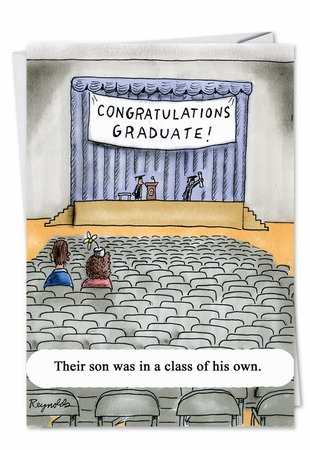 Funny Graduation Card From NobleWorksInc.com - Class of His Own