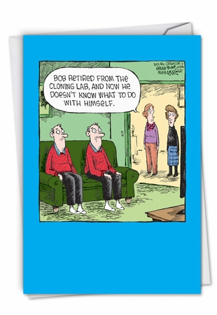 Hysterical Retirement Card From NobleWorksInc.com - Cloning Lab