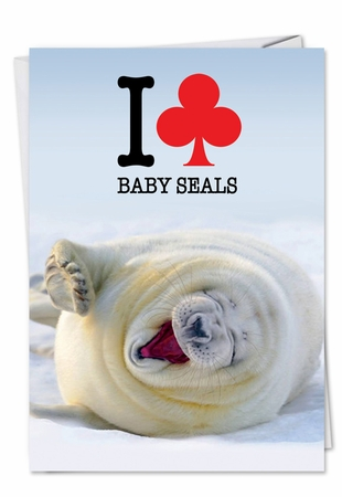 Humorous Birthday Card From NobleWorksInc.com - Club Baby Seal