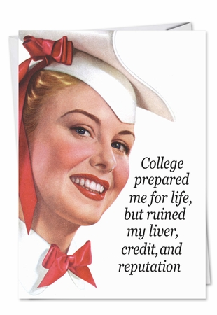 Hilarious Congratulations Card From NobleWorksInc.com - College