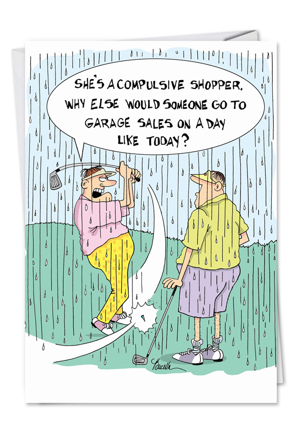 Wholesale Only Compulsive Shopper Naughty Funny Mean Card Bucella