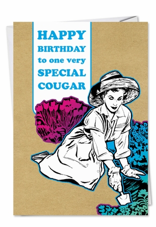 Humorous Birthday Card From NobleWorksInc.com - Cougar