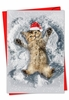Beautiful Merry Christmas Card From NobleWorksInc.com - Critter Snow Angels