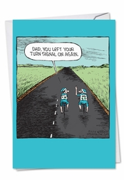 Dad Hand Turn Signal Funny Father's Day Card by NobleWorks and Dave Coverly