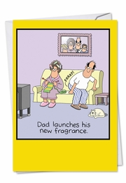 Dad's Fragrance Funny Father's Day Card by NobleWorks and Tim Whyatt