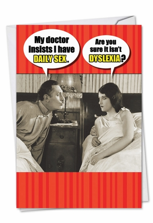 Humorous Valentine's Day Card From NobleWorksInc.com - Daily Sex