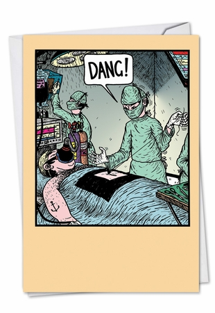 Funny Get Well Card From NobleWorksInc.com - Dang Surgeon