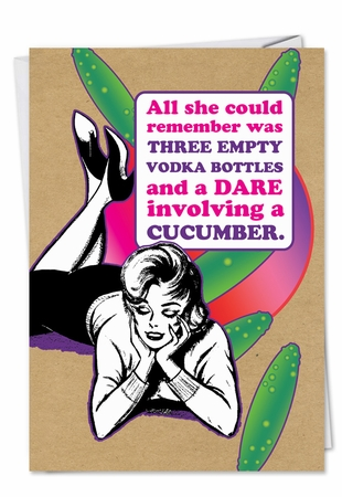 Humorous Valentine's Day Card From NobleWorksInc.com - Dare Cucumber
