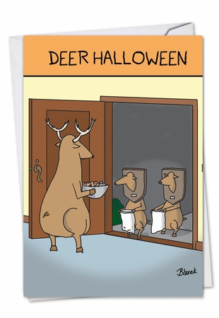 Humorous Halloween Card From NobleWorksInc.com - Deer Halloween