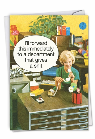 Humorous Administrative Professionals Day Card From NobleWorksInc.com - Department Gives a Shit