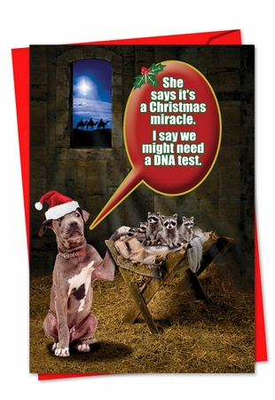 Humorous Christmas Card From NobleWorksInc.com - DNA Test