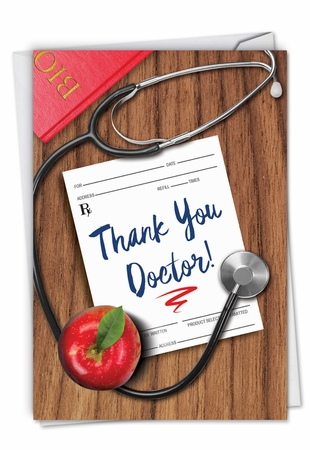 Funny Thank You Card From NobleWorksInc.com - Doctor Gratitude