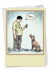 Humorous Birthday Card From NobleWorksInc.com - Dog Text