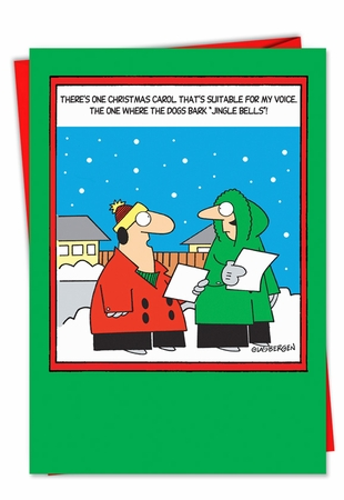 Hysterical Christmas Card From NobleWorksInc.com - Dogs Bark Jingle Bells