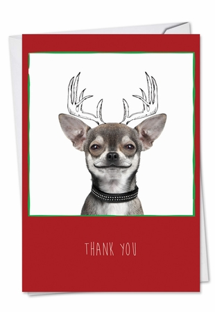Artful Blank Christmas Thank You Card From NobleWorksInc.com - Dogs & Doodles