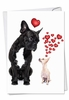 Humorous Valentine's Day Card From NobleWorksInc.com - Dogs in Love