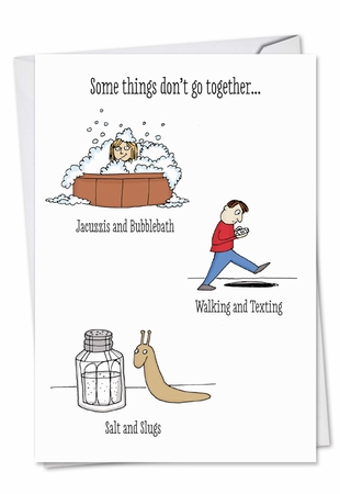 Humorous Valentine's Day Card From NobleWorksInc.com - Don't Go Together