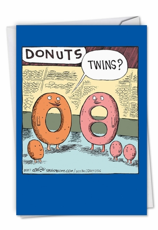 Hysterical Baby Card From NobleWorksInc.com - Donut Twins