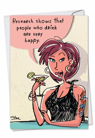 Hysterical Birthday Card From NobleWorksInc.com - Drink Research
