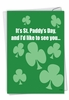 Hilarious St. Patrick's Day Card From NobleWorksInc.com - Drunk and Naked
