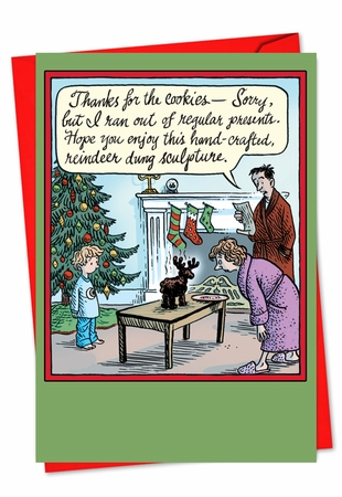 Humorous Christmas Card From NobleWorksInc.com - Dung Sculpture