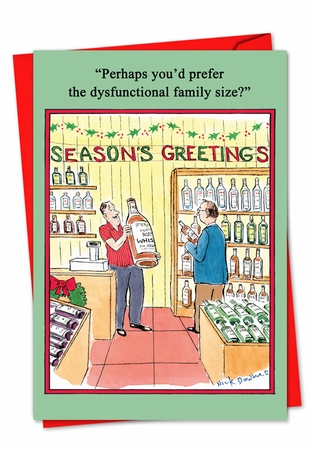 Hysterical Blank Christmas Card From NobleWorksInc.com - Dysfunctional Family