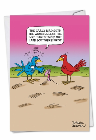 Hysterical Birthday Card From NobleWorksInc.com - Early Bird
