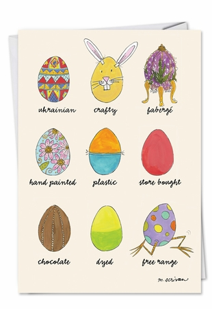 Funny Easter Card From NobleWorksInc.com - Egg Types