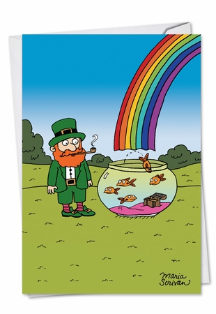 Funny St. Patrick's Day Card From NobleWorksInc.com - End of Rainbow Treasure