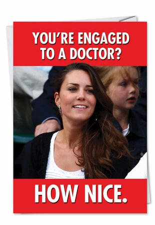 Hilarious Congratulations Card From NobleWorksInc.com - Engaged to Doctor