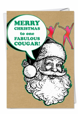 Funny Christmas Card From NobleWorksInc.com - Fabulous Cougar