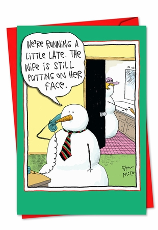 Hysterical Blank Christmas Card From NobleWorksInc.com - Face On
