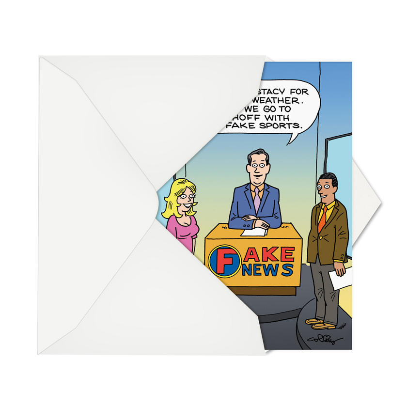 Fake News Report Birthday Card Daniel Collins