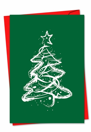 Artful Christmas Card From NobleWorksInc.com - Fanciful Firs