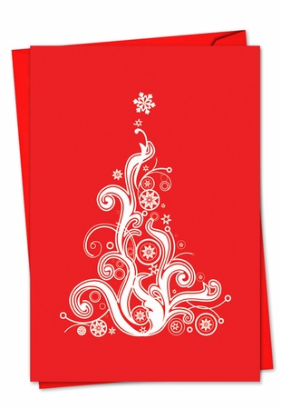 Beautiful Christmas Card From NobleWorksInc.com - Fanciful Firs
