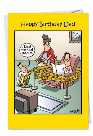 Humorous Birthday Card From NobleWorksInc.com - Farted Again