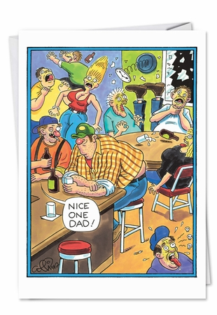 Humorous Birthday Father Card From NobleWorksInc.com - Farting Redneck