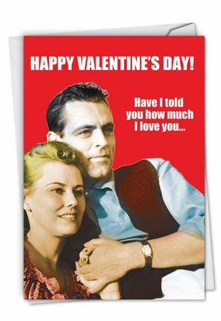 Humorous Valentine's Day Card From NobleWorksInc.com - Fastest Sperm