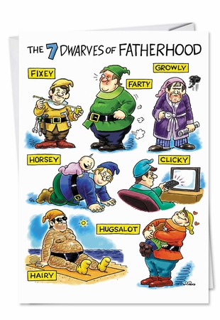 Hilarious Father's Day Card From NobleWorksInc.com - Dwarves