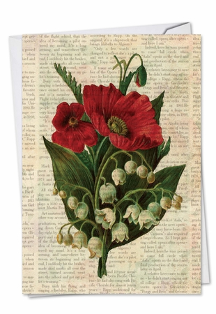 Artistic Sympathy Card From NobleWorksInc.com - Flower Press