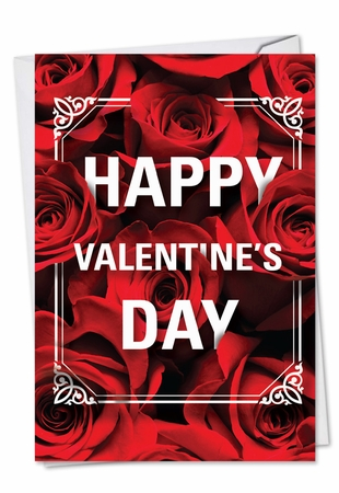 Artistic Valentine's Day Card From NobleWorksInc.com - Flowers for Love