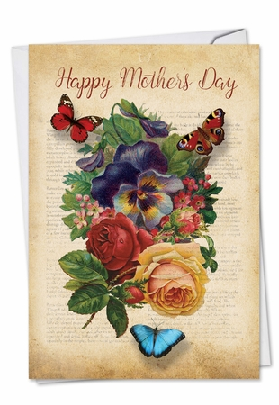 Beautiful Mother's Day Card From NobleWorksInc.com - Fluttering Words
