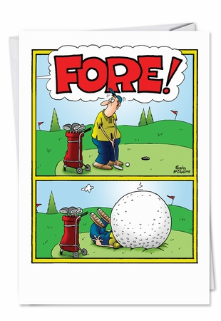 Humorous Birthday Card From NobleWorksInc.com - Fore