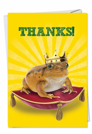 Hysterical Thank You Card From NobleWorksInc.com - Frog Prince