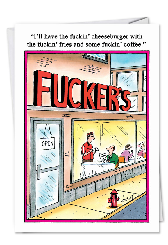 Wholesale only fuckers restaurant rude diners fuckin funny card cheney m4hsunfo