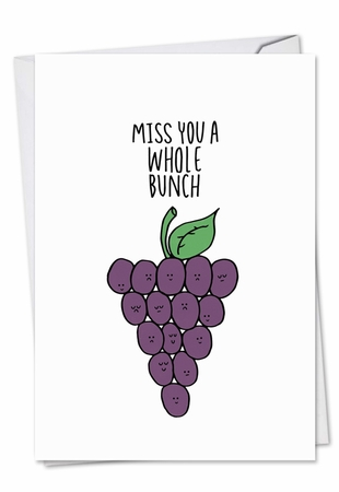 Artistic Miss You Card From NobleWorksInc.com - Fun Puns